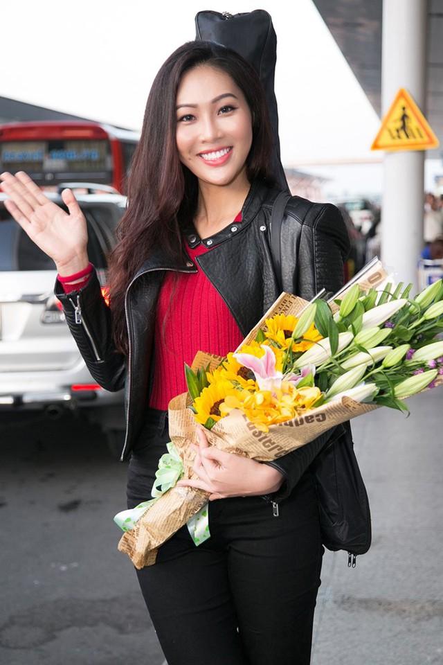 Diệu Ngọc lên đường thi Miss World với... 1 tạ hành lý - Ảnh 1.
