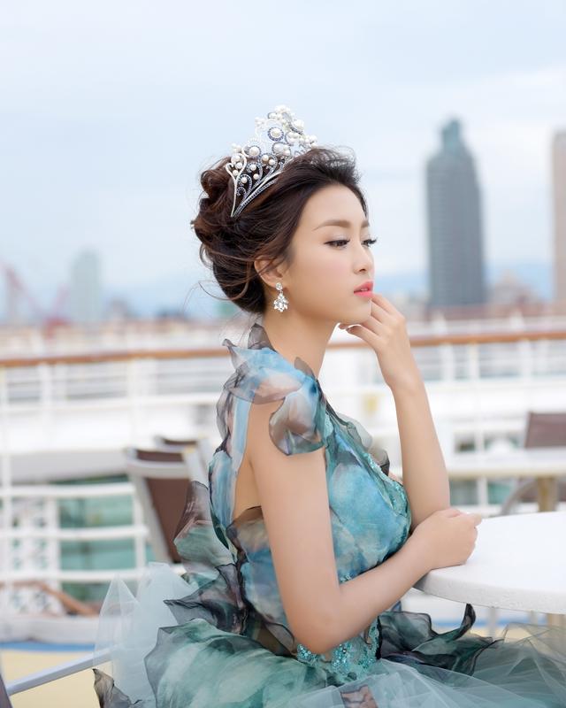 Hoa hậu Mỹ Linh tỏa sáng với vẻ đẹp lộng lẫy ở Đài Loan - Ảnh 7.
