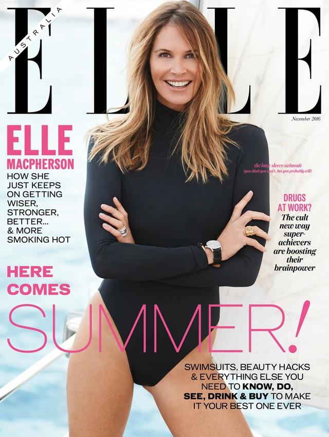 Choáng với hình thể của chân dài 52 tuổi Elle Macpherson - Ảnh 1.
