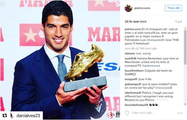 Patrice Evra bất ngờ làm hòa với Luis Suarez - Ảnh 1.