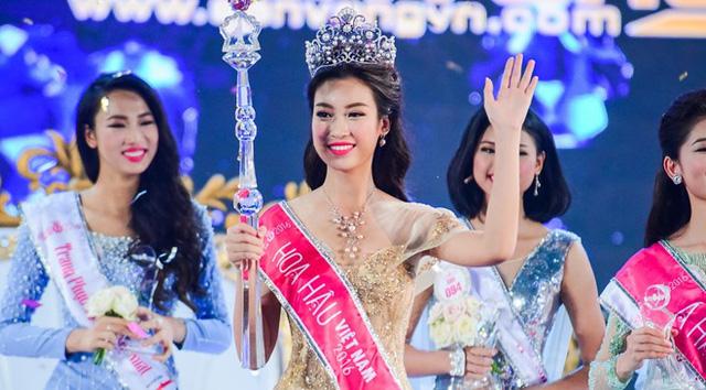 Đỗ Mỹ Linh ngỡ ngàng trong giây phút đăng quang Hoa hậu Việt Nam 2016 - Ảnh 1.