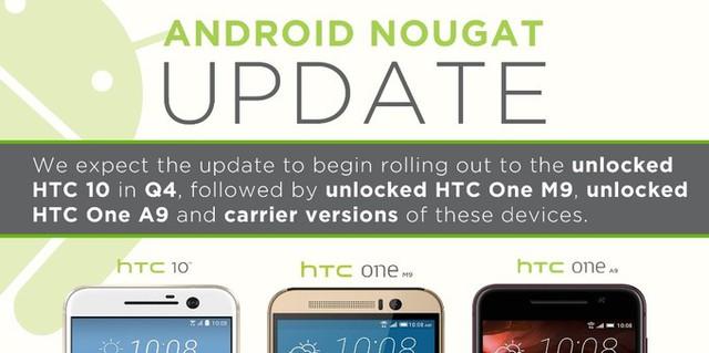"""HTC 10 sẽ """"lên đời"""" Android 7.0 Nougat cuối năm nay - Ảnh 1."""