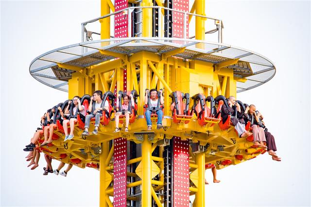 Trải nghiệm tháp rơi tự do cao nhất Việt Nam tại Đà Nẵng - Ảnh 6.