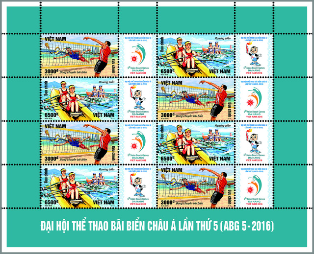 Phát hành bộ tem Đại hội Thể thao bãi biển Châu Á lần thứ 5 (ABG 5-2016) - Ảnh 3.