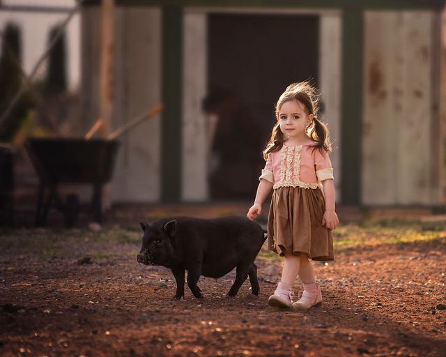 Ngất ngây bộ ảnh siêu dễ thương về bé gái yêu động vật - Ảnh 8.