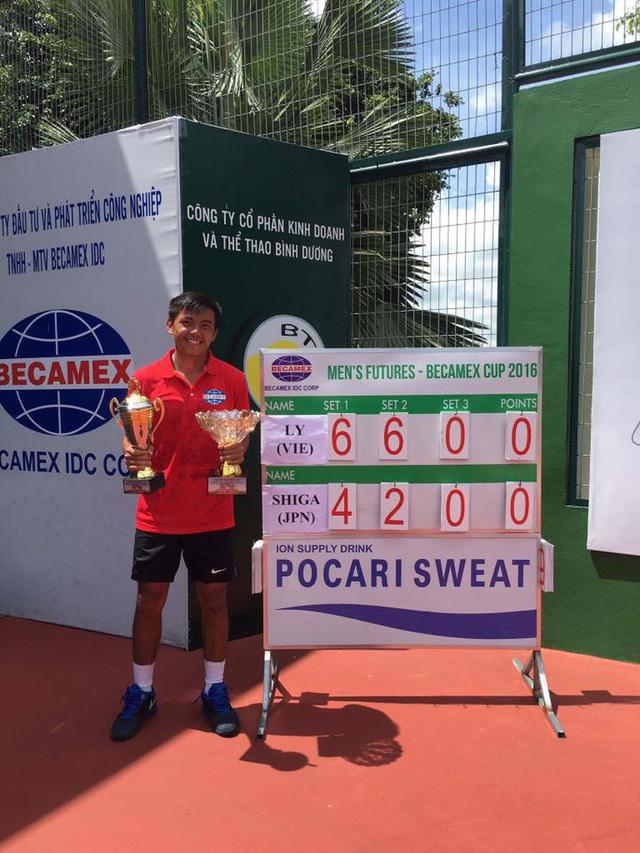 Lý Hoàng Nam vô địch nội dung đơn nam giải Vietnam F5 Futures - Ảnh 2.