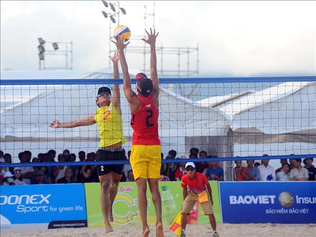 Bóng chuyền bãi biển Việt Nam có 3 trận thắng tại ABG5  - Ảnh 1.