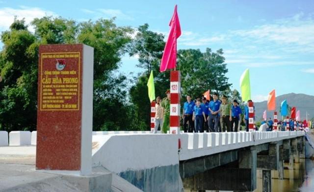Khánh thành cầu nông thôn do Tỉnh đoàn Bình Định triển khai - Ảnh 2.