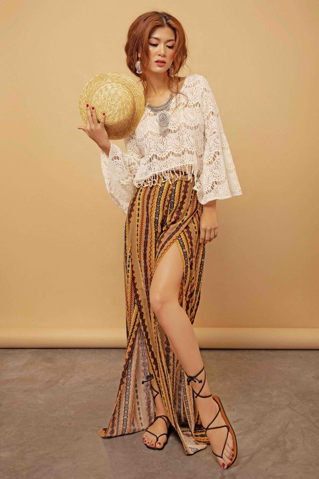 Hoa hậu toàn cầu Oanh Yến khoe phong cách du mục - Ảnh 3.