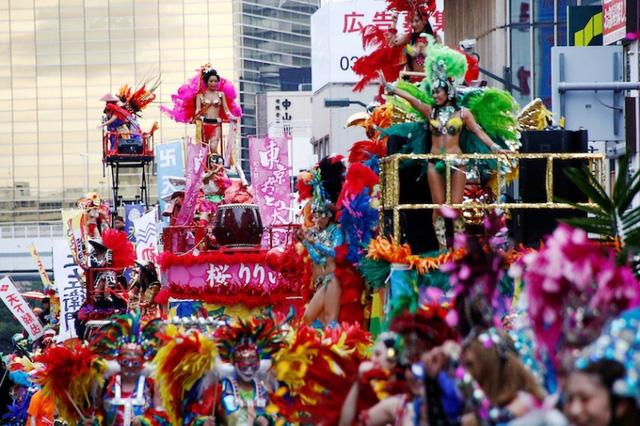 Sôi động lễ hội Samba ở Tokyo, Nhật Bản - Ảnh 1.