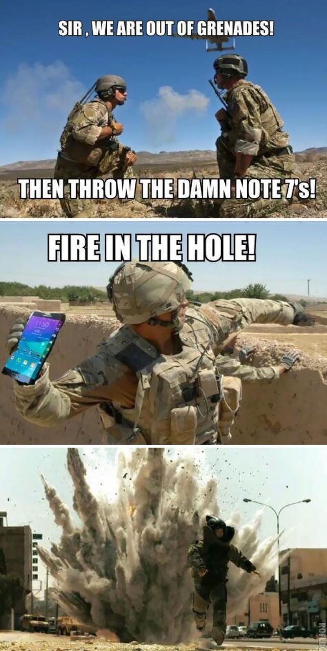 Không thể nhịn cười với loạt ảnh chế về Samsung Galaxy Note7 - Ảnh 2.