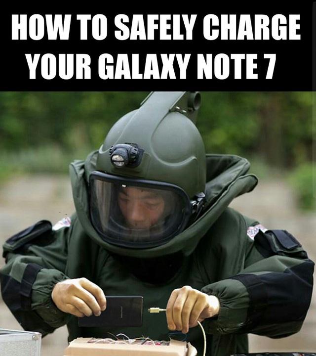 Không thể nhịn cười với loạt ảnh chế về Samsung Galaxy Note7 - Ảnh 1.