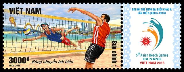 Phát hành bộ tem Đại hội Thể thao bãi biển Châu Á lần thứ 5 (ABG 5-2016) - Ảnh 1.