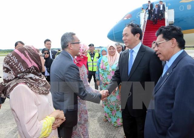 Chủ tịch nước bắt đầu chuyến thăm cấp nhà nước tới Brunei - Ảnh 1.