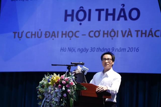 Phó Thủ tướng: Tự chủ đại học không có nghĩa Nhà nước ngừng cấp tiền đầu tư - Ảnh 2.