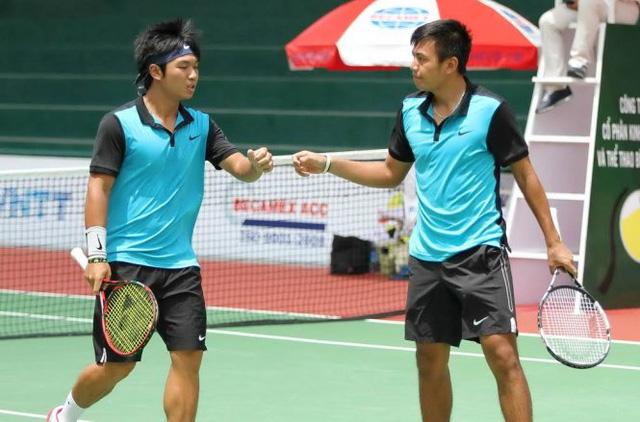 Giải quần vợt Vietnam F7 Futures: Hoàng Nam, Hoàng Thiên vào bán kết đôi nam - Ảnh 1.