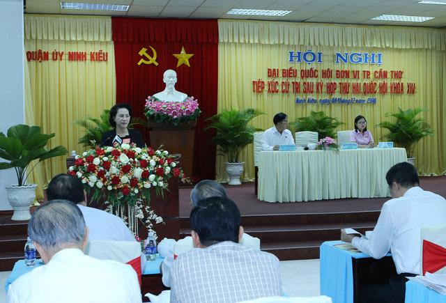 Chủ tịch Quốc hội tiếp xúc cử tri thành phố Cần Thơ - Ảnh 4.