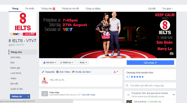 8 IELTS thông báo thay đổi fanpage trên Facebook - Ảnh 1.