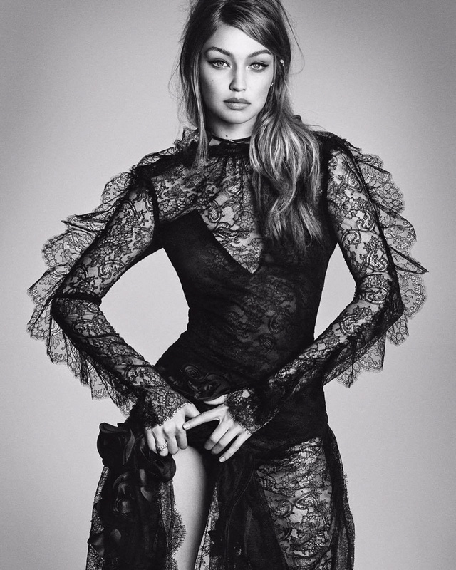Gigi Hadid lột xác bí ẩn với thiết kế ren trên tạp chí Nhật - Ảnh 7.