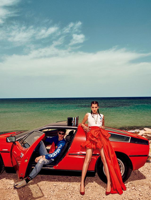 Bella Hadid khoe dáng cá tính bên trai đẹp - Ảnh 5.