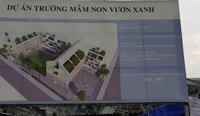 Xác định nguyên nhân sơ bộ dẫn đến vụ sập trường mầm non Vườn Xanh ở Hà Nội - ảnh 1