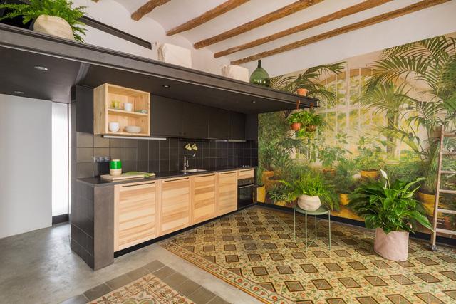 Ngôi nhà 45 m2 ấm áp với sắc màu của gỗ và cây cỏ - Ảnh 3.