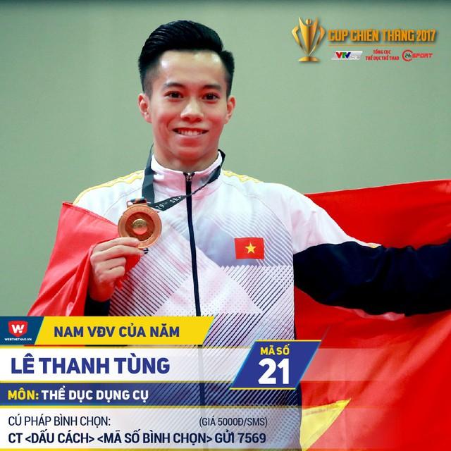 Cup Chiến thắng 2017: Lê Thanh Tùng, Bùi Thị Thu Thảo dẫn đầu bình chọn - Ảnh 1.