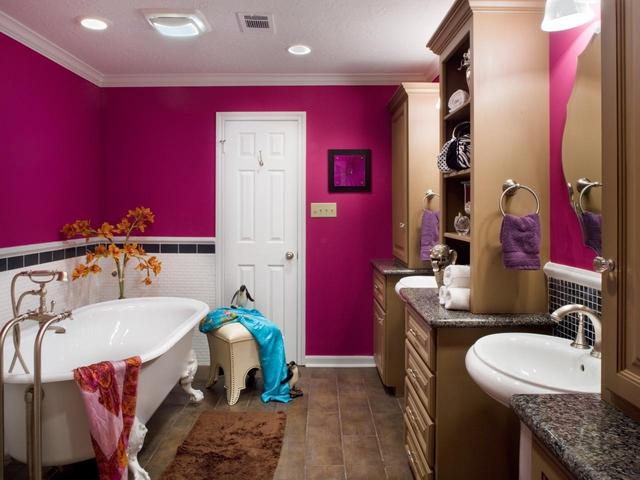 Thích thú với những mẫu phòng tắm ngập sắc màu - Ảnh 4.