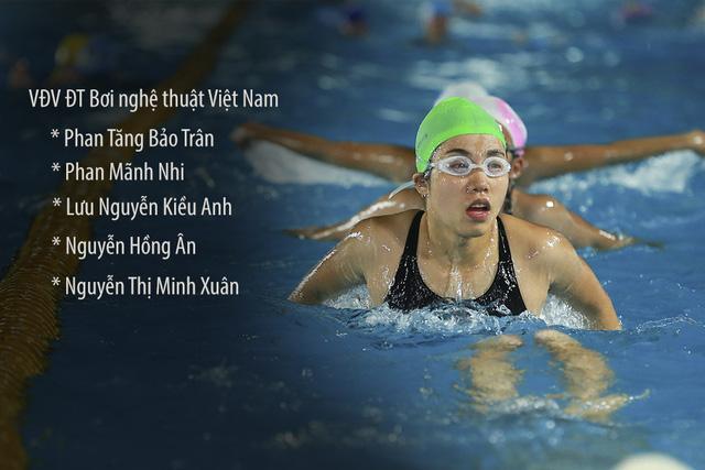 Tập ở hồ bơi công cộng, ĐT Bơi nghệ thuật Việt Nam đặt mục tiêu HCĐ SEA Games 29 - Ảnh 16.
