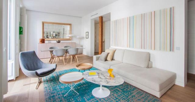 Mẫu thiết kế căn hộ nhỏ hiện đại, màu sắc tươi sáng - Ảnh 1.