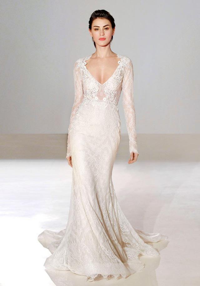 Mê mẩn những mẫu váy cưới vừa đơn giản, vừa sang chảnh - Ảnh 2.