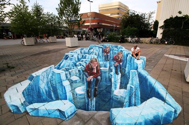Nghệ thuật 3D trên đường phố - Ảnh 1.