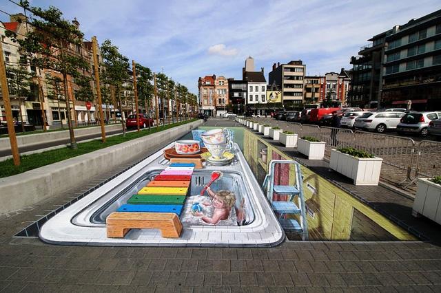 Nghệ thuật 3D trên đường phố - Ảnh 6.