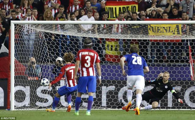 Atl Madrid 1-0 Leicester City: Griezmann lập công, Atl Madrid giành lợi thế trước trận lượt về - Ảnh 1.