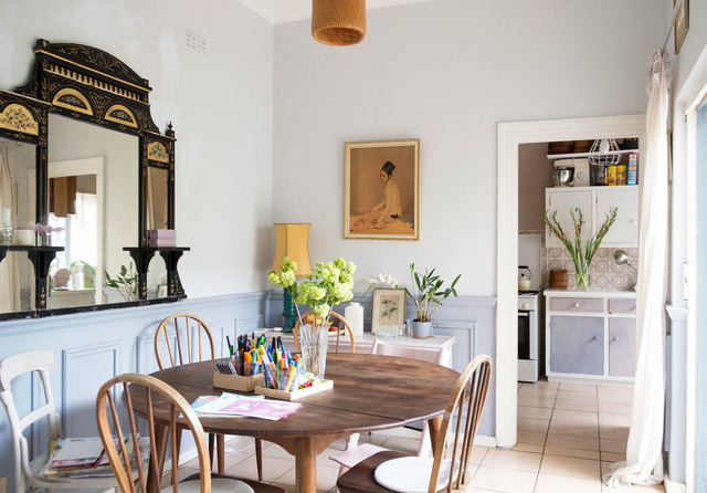 Căn nhà có khoảng sân xinh xắn và không gian màu pastel nhẹ nhàng - Ảnh 6.