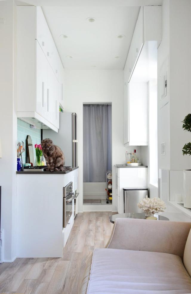 Căn hộ hơn 30 m2 có không gian đánh lừa thị giác - Ảnh 5.