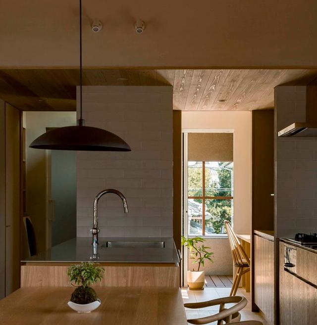 Thiết kế nhà với nội thất toàn bằng gỗ và khoảng giếng trời xanh ngát - Ảnh 8.