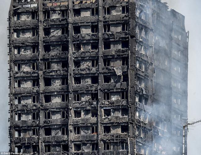 Những hình ảnh kinh hoàng còn lại sau vụ cháy chấn động ở thủ đô London - Ảnh 2.