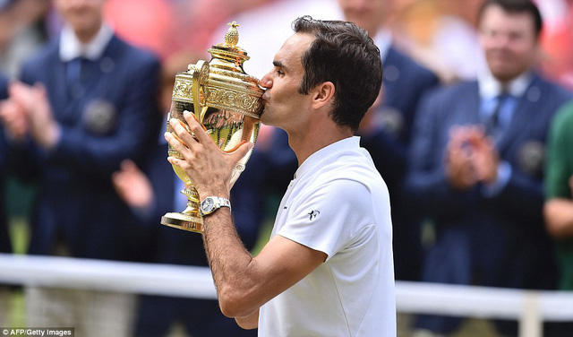 Ảnh: Những khoảnh khắc ấn tượng trong trận chung kết Wimbledon của Roger Federer - Ảnh 16.
