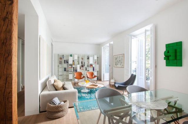 Mẫu thiết kế căn hộ nhỏ hiện đại, màu sắc tươi sáng - Ảnh 4.