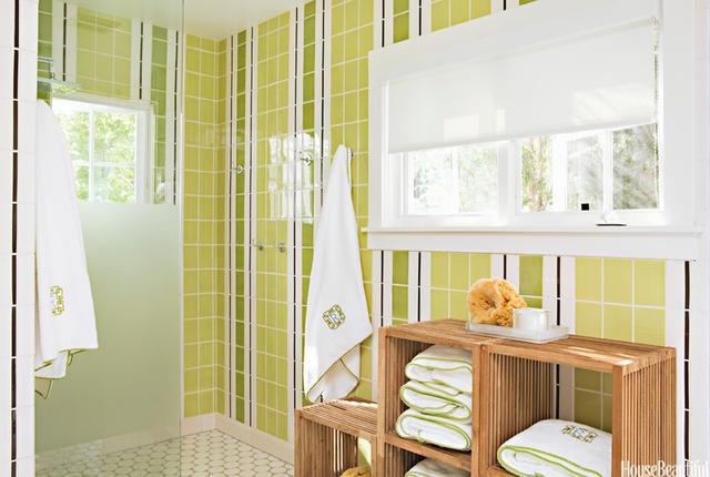 Thích thú với những mẫu phòng tắm ngập sắc màu - Ảnh 9.