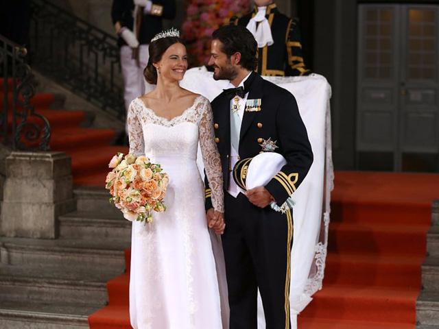 Chiêm ngưỡng váy cưới của những người đẹp hoàng gia - Ảnh 2.