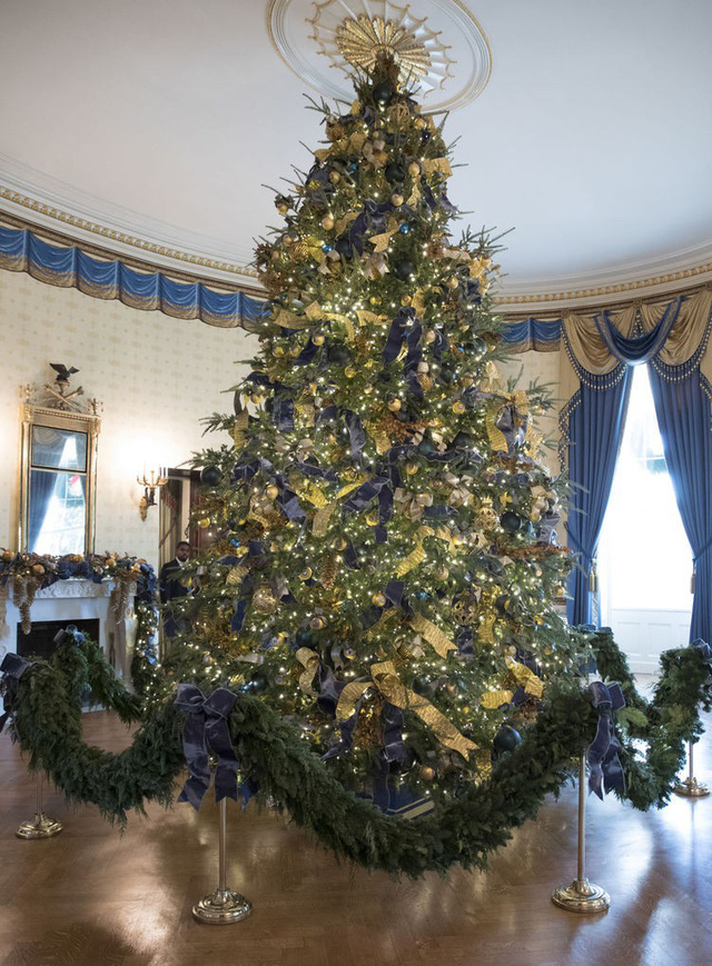 Nhà Trắng trang hoàng lộng lẫy đón Giáng sinh và năm mới - Ảnh 4.