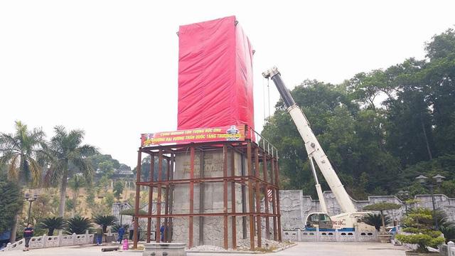 Di dời tượng Đức Ông nặng 40 tấn lên đồi cao 62m ở Quảng Ninh - Ảnh 5.