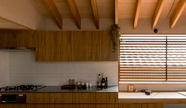 Thiết kế nhà với nội thất toàn bằng gỗ và khoảng giếng trời xanh ngát - Ảnh 10.
