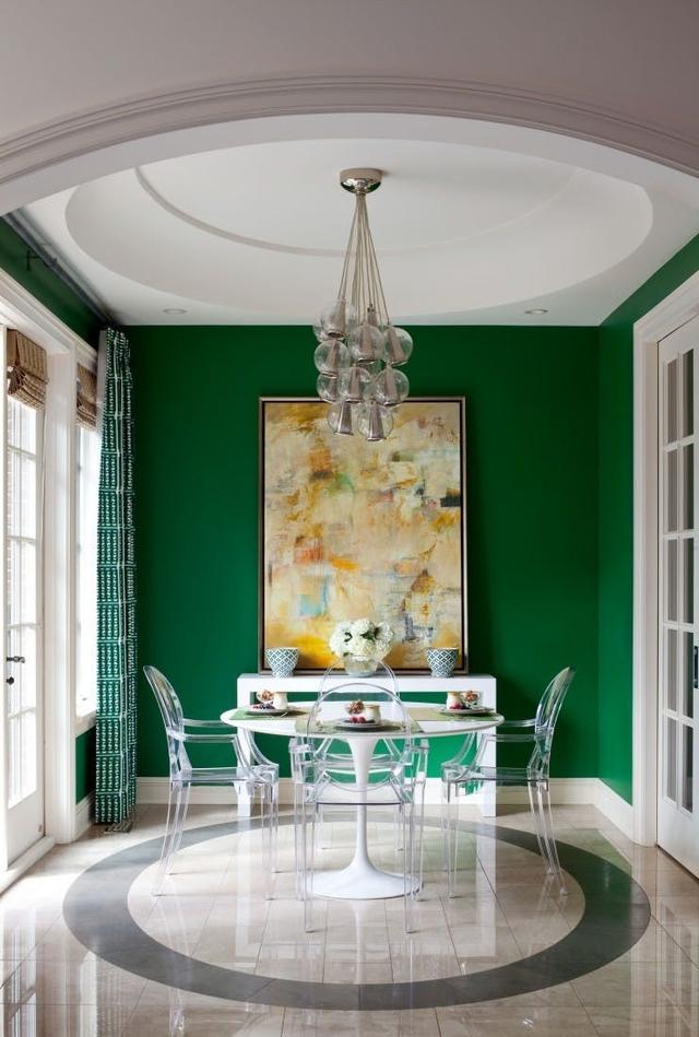Tạo điểm nhấn nổi bật cho không gian trong nhà bằng màu xanh lá dịu mát - ảnh 8