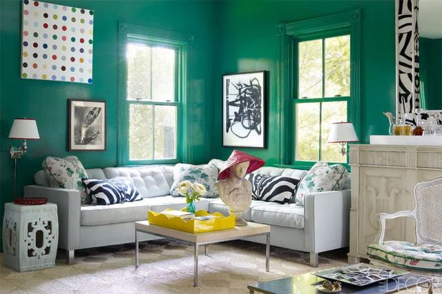 Tạo điểm nhấn nổi bật cho không gian trong nhà bằng màu xanh lá dịu mát - ảnh 7