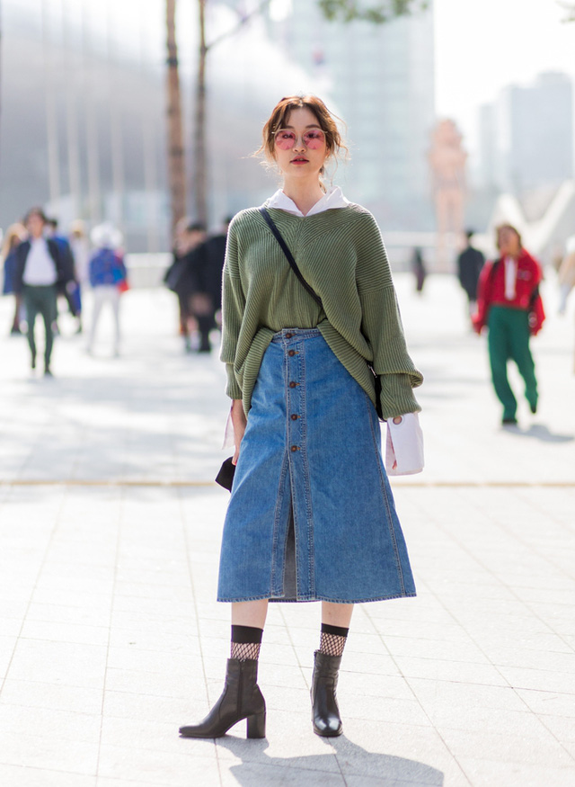 Gợi ý phổi đồ len đẹp chuẩn phong cách Hàn Quốc - Ảnh 1.