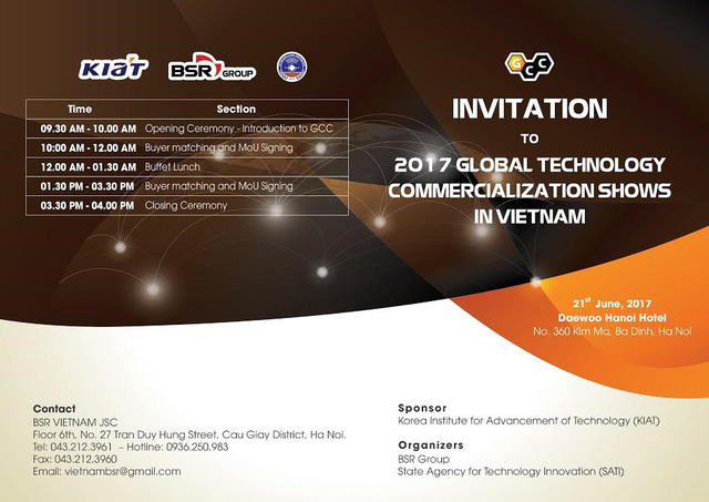 GCC 2017 - Đón đầu cơ hội thương mại hóa công nghệ tiên tiến nhất Hàn Quốc - Ảnh 1.