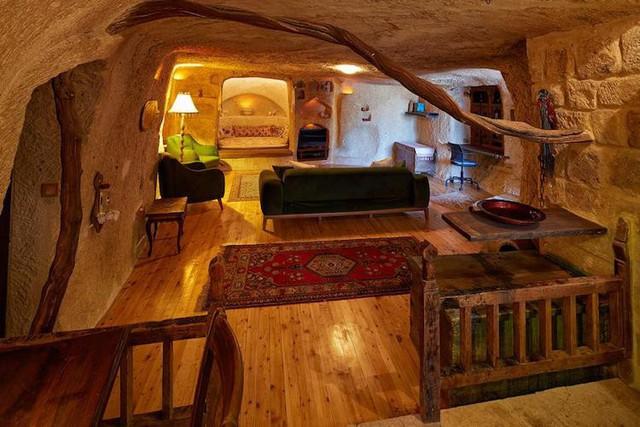 Những khách sạn hang đá độc đáo ở Thổ Nhĩ Kỳ - Ảnh 3.